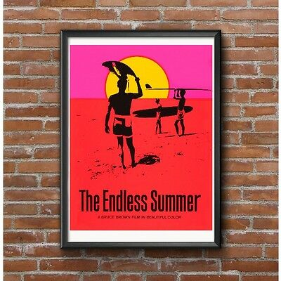 The Endless Summer Poster - Bruce Brown's Legendary 1966 Surfing Film