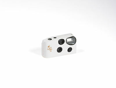 Disposable Cameras with Flash White Memories Gold Swirl Pack of 10