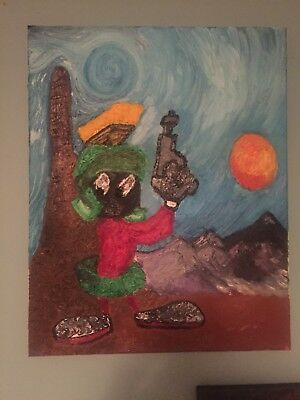 Original Marvin The Martian Oil Painting
