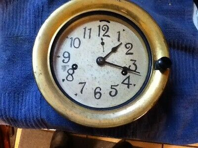 Brass face Ships Clock