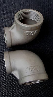 "Stainless Steel Elbow 90 Reducer 1"" - 3/4"" Npt Pipe Re-100-075"