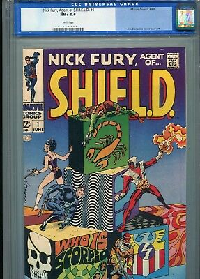 Nick Fury Agent of Shield 1 CGC 9.6 WHITE pages old slab upgrade to 9.8? SALE!!!