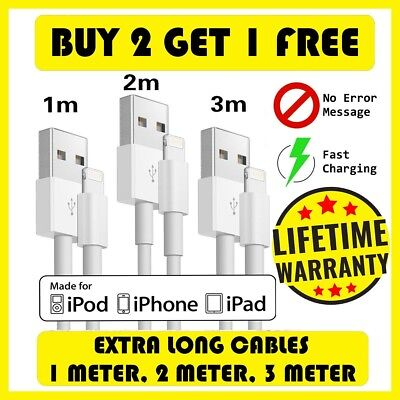 Premium Long Fast Charger Strong CE & RoHS iPhone 6 6s 7 8 X iPad USB Data Cable