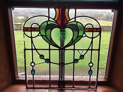 Vintage Antique Stained Glass Window