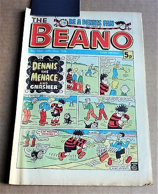 """D.C.THOMPSON  """"BEANO""""  COMIC #1866   DATED  APRIL 22nd 1978"""
