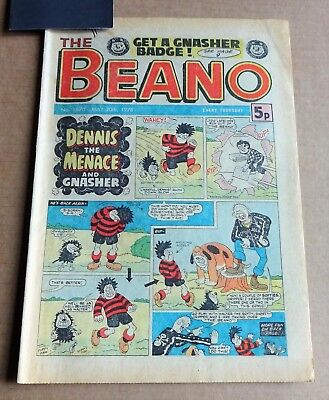 """D.C.THOMPSON  """"BEANO""""  COMIC #1870   DATED  MAY 20th 1978"""