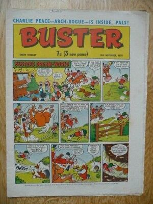 Vintage Buster Comic 14th November, 1970 - Buster's Dream-World Cover Strip