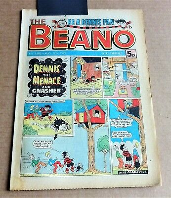 """D.C.THOMPSON  """"BEANO""""  COMIC #1882   DATED  AUGUST 12th 1978"""