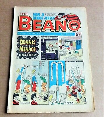 """D.C.THOMPSON  """"BEANO""""  COMIC #1884   DATED  AUGUST 26th 1978"""