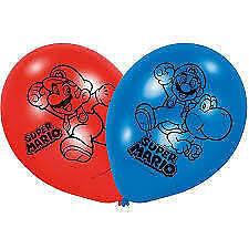 Palloncini in Lattice 22,8 cm Super Mario 6 pz