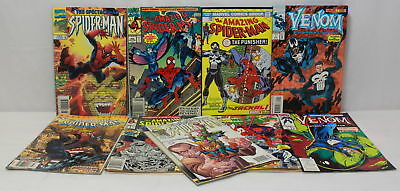 Marvel Comics- The Amazing Spider-man & Venom- Mic. Comic Book Lot of 9