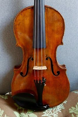 Beautiful Old Antique 4/4 unlabeled Italian French or German violin c.1850