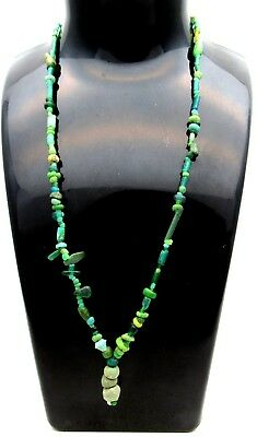 Viking Glass Beaded Necklace - Very Rare Wearable Artifact Fantastic - B482