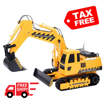 RC Excavator Bulldozer Digger 1/18 Construction Truck 5CH Rechargeable Battery