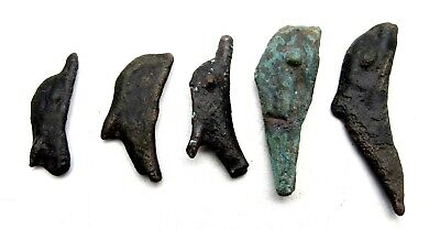 Lot Of 5 Bronze Proto Money - Dolphins - Currency - Olbia - B488