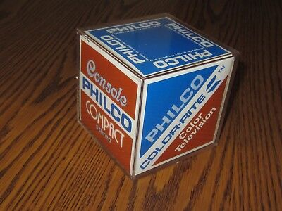 Vintage Philco PHOTO CUBE, Advertising Color TV, Compact Stereo & more, NIB C-9