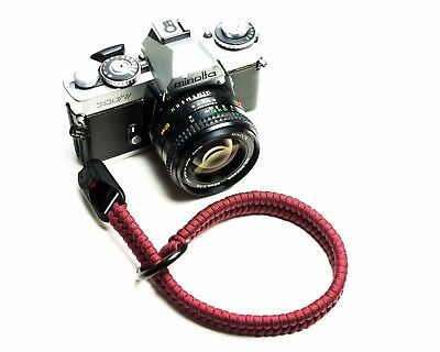 SnakeStraps Ruby Red Paracord Camera Wrist Strap with Peak Design Link