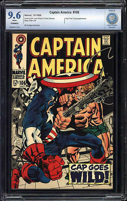 Captain America 106 - Marvel 1968 - Cbcs 9.6 Nm+ Trimmed Mile High Ii Pedigree