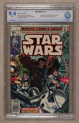 Star Wars 3 - Marvel 1977 Cbcs Nm 9.4 - 1St Edition
