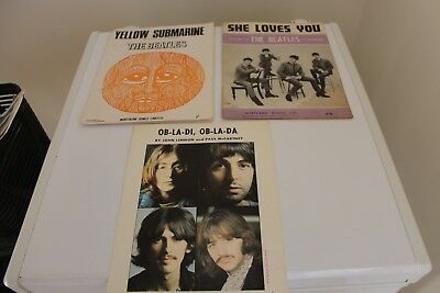 three Beatles Music sheet books..Original