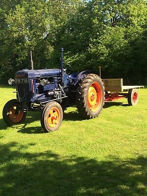 Fordson E27n Tractor High Speed Like David Brown Grey Fergie