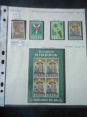nigeria stamps 1965 scouts 4v + M/S sg 157-160a MNH