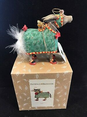 Patience Brewster David Donkey Ornament - Original Box - Dept 56 Krinkles