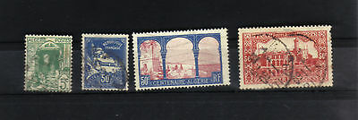 Algeria 1926 - 1936 Stamp Collection X 4 Used Hinged