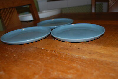 3x Denby Homestead Side Dishes - Blue - shallower Version
