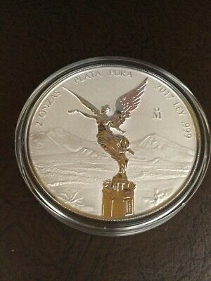 """2017 Mexico Brand New Silver 2 Oz. Libertad  Reverse Proof """"First Year Of Issue"""""""