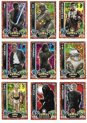 Star Wars Force Attax Extra 4 Chase Sets (97 -138) Set - TOPPS 2015