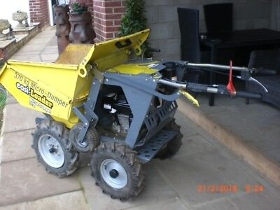 micro dumper, power barrow,easy loader 370kg contractors  211 hours use from new