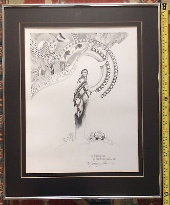 Norman Lansing 1999 The Spirits Stir Within Us Signed In Pen Native American