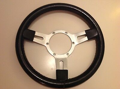 Classic alloy leather steering wheel