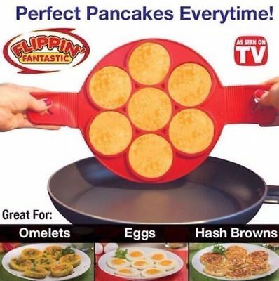 Flipping Fantastic NonStick Pancake Maker Silicone Cooking Mat Mold Egg Omelette