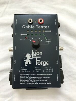VERY GOOD CONDITION Lyon Forge Audio Cable Tester - Boxed + Instructions