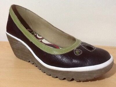Fly London - Yedi Brown - Womens Wedges Casual Size UK 8 EU 41