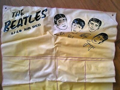 Original Beatles Li-Lo Inflatable Lilo Air Bed Collectible Memorabilia 1960s