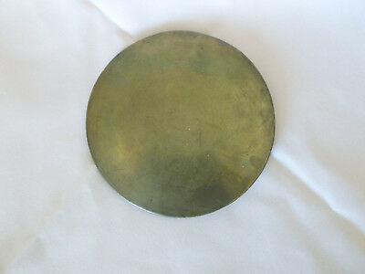 Antique Brass Bob with cast iron back German/ French?  1lb-4oz