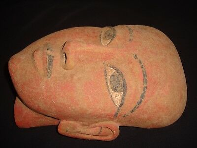 Rare Antique Ancient Egyptian Funeral wooden Mask 1386-1349 BC
