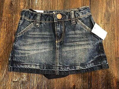 Nwt Baby Gap Blue Denim Jean Skirt With Diaper Cover 18-24 Months