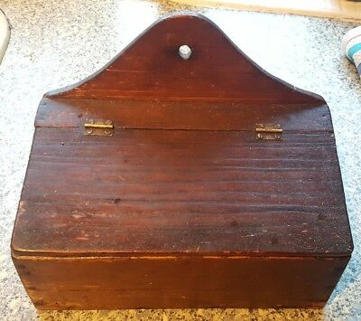 Antigue / Vintage Wall Mounting Wooden Candle Box
