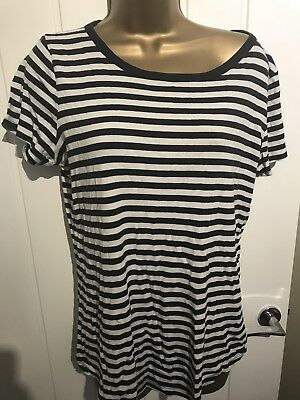 2 X Maternity Tops t-shirts Next & Debenhams Red Herring Size 12 14 striped navy