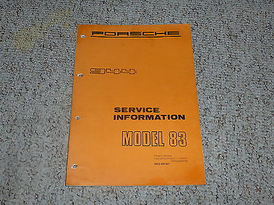 porsche 944 turbo original factory workshop service repair manual rh picclick com 1983 Porsche 944 Manual Porsche 944 Owners Manual PDF