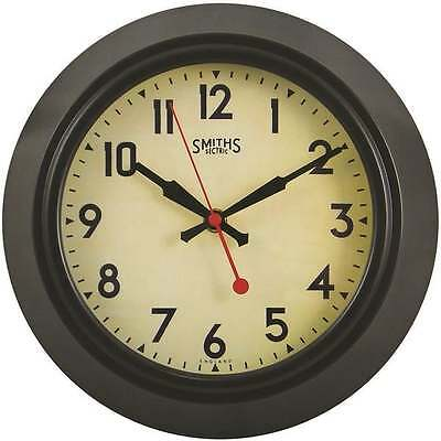 Smiths Clocks Sectric Metal Wall Clock Brown With Sweep Seconds Hand