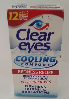 Clear Eyes Cooling Comfort Eye Drops, Redness Relief - 0.5 fl oz.
