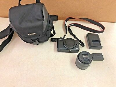Canon EOS M10 Mirrorless Digital Camera with 15-45mm STM Lens Black 121610-1