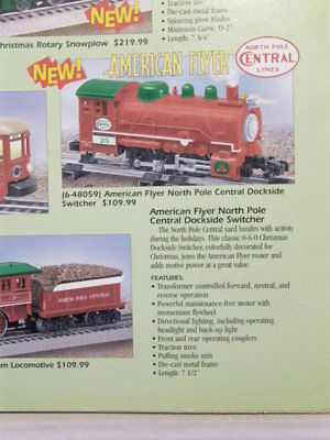 American Flyer XMAS #48059 North Pole Central Dockside Swtchr.NOS,MINT WOW!L@@K!