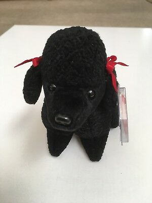 Ty Beanie Baby ~ GIGI the Black Poodle Dog 1997 ~ MINT with MINT TAGS ~ RETIRED