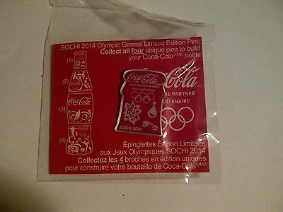 Coca-Cola Collector pin 2014 Sochi Winter Olympics Limited Edition